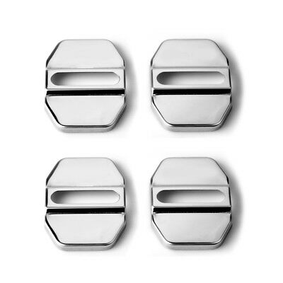 1* Universal Car SUV Decor Accessory Stainless Steel Door Lock Protective Covers