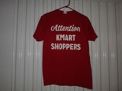 Kmart-Attention Kmart Shoppers-Shopping Is Fun Again-Red Employee T-Shirt-Med