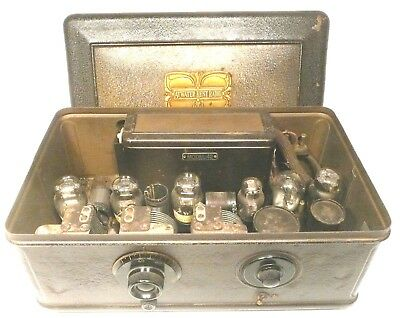 vintage ATWATER KENT #42 BREADBOX w/  6 TUBES &  POWER SUPPLY - untested