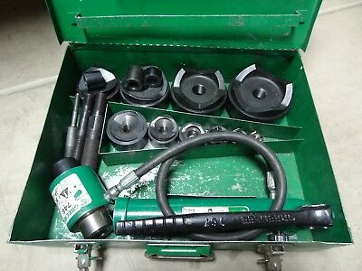 """Greenlee 7310Sb 1/2"""" - 4"""" Hydraulic Knockout Punch Driver Set"""
