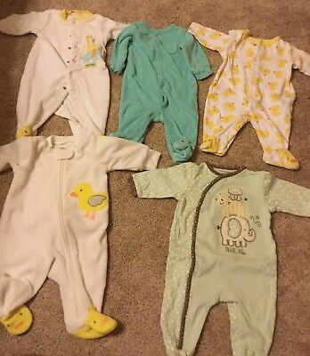 Carter's Baby Boy Girl Gender Neutral 3 Mo Clothes Outfits Sleepers Pajamas Lot