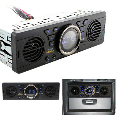 Car 1Din Bluetooth Stereo MP3 Audio Player Built-in 2 Speaker USB/TF Card Port