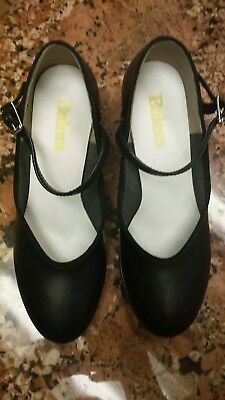 Balera Dance Shoes 1.5 Inch Heel Character Shoes Black Size 4 M Child's