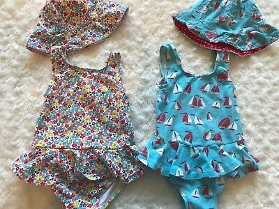Baby Boden Mini Boden  Baby Girl Toddler One Piece Swimsuit LOT 12 18 24 Months