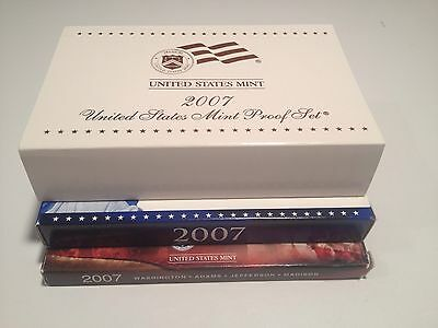 2007 US MINT PROOF SET 14 coins w-Box & COA First Year Presidential Proofs