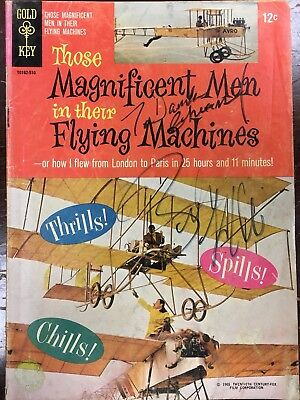 Benny Hill signed Those Magnificent Men In Their Flying Machines Comic Book