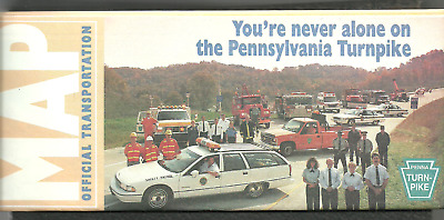 Pennsylvania Turnpike Travel Highway Map, 1995, PA, Brand New!