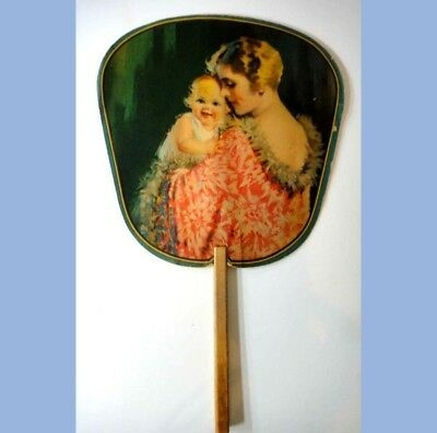 antique ADVERTISING HAND FAN~wilmington de~SIGMUND'S WOMEN'S FASHION STORE