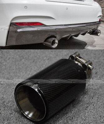 1Pc Carbon Fiber M3 M4 F80 F82 F83 Style Matte For BMW Exhaust Muffler Pipe Tip