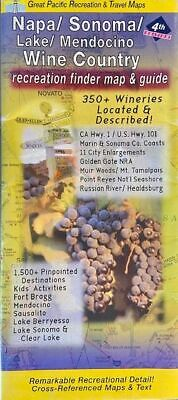 Map & Guide of Napa & Sonoma Wine Country, California, by GMJ Maps