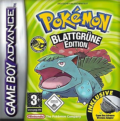 Pokemon Blattgrüne Edition | Gameboy Advance SP | GBA SP | Nintendo DS | DS Lite