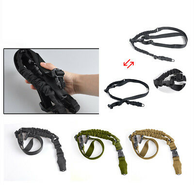 Heavy Duty Tactical 2 Point Adjustable Rifle Gun Sling Padded Strap Hook Hunting