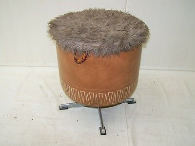 Antique Linen Chest, Puff, Laundry Bin, Iconic Retro Design, The 60er Stool