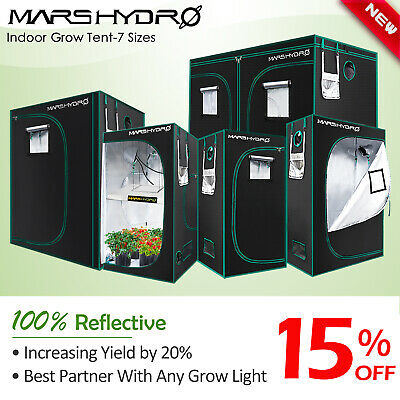 Mars Hydro Indoor Portable Grow Tent Box Silver Mylar Hydroponics Bud Green Room