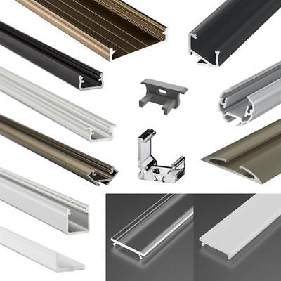 LED ALUMINIUM PROFILES covers clips endcaps, for LED strip
