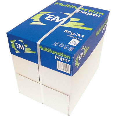 1 BOX 2500 SHEETS 5 REAMS TE:AM GRADE A A4 COPIER WHITE PRINTER PAPER 80gsm +24H