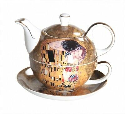 Fine Bone China Gustav Klimt *The Kiss* Teapot Tea For One NEW