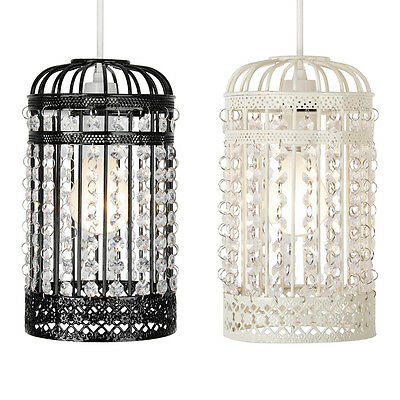 Vintage Style Metal Bird Cage Ceiling Light Birdcage Lamp Shades Chandeliers NEW