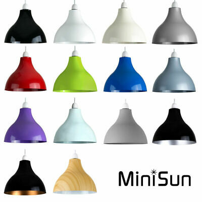 Modern retro style round metal cafe ceiling pendant light lamp retro industrial style curved ceiling pendant light shade lampshades easy fit aloadofball Image collections