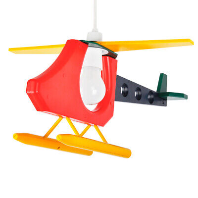 Colourful Childrens Kids Bedroom Boys Helicopter Ceiling Light Lamp Shade Lights