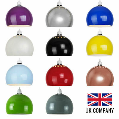 Retro Metal Ceiling Pendant Shade Vintage Dome Lampshade Bedroom Lounge Light