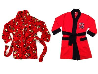 Kids Boys Character Fleece Bath Robe Dressing Gown Toddlers Size UK 2 - 8 Years