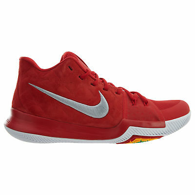 the latest 07083 a8e59 Nike Kyrie 3 Suede Mens 852395-601 University Red Grey Basketball Shoes  Size 11