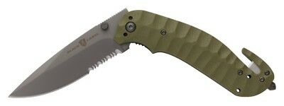 Browning Knives Black Label Duration Od Green Rescue Knife Tool Seat Belt Cutter