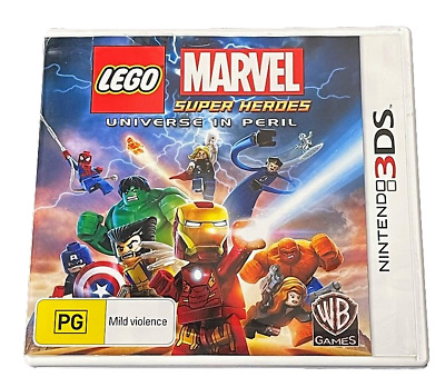 Lego Marvel Super Heroes Universe in Peril Nintendo 3DS 2DS Game  *No Manual*