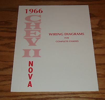 1966 Chevrolet Chevy II Nova Wiring Diagram Manual for Complete Chassis 66