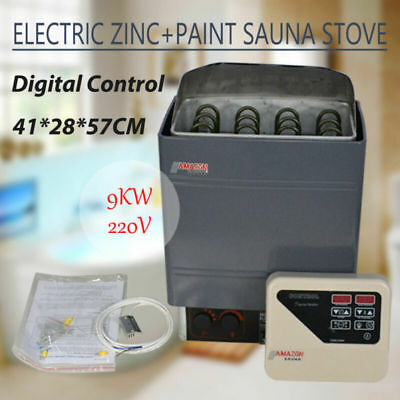 9KW 220V Stainless Steel Sauna Heater Stove&External Digital Controller Wet Dry