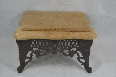 antique foot stool cricket  cast iron matching Victorian original 1800