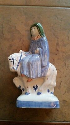 "A Rye Pottery ""canterbury Tales"" Figurine: ""the Nun-Prioress"": 7.5"" Tall: Vgc"