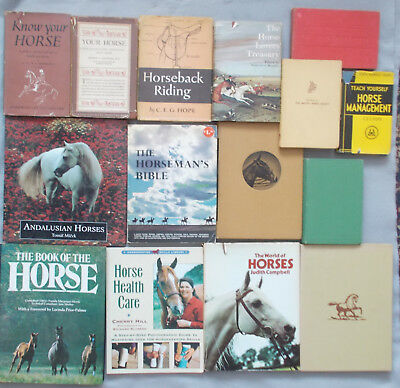 15 BOOKS ON HORSES & RIDING Management & Care ANDALUSIAN Stabling JUMPING horse