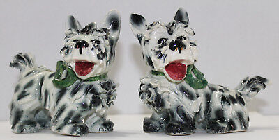 Fanciful Spagetti Ceramic Yorkie Dog Pair Italian made and numbered
