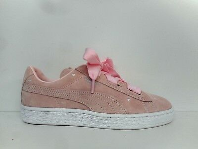 the latest 776b1 7d064 Puma Suede Heart Valentine Jr Basketball Shoes 365135-03 Select Size