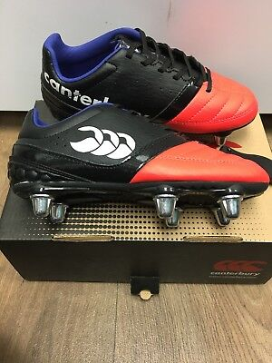 Canterbury Kids Rugby Boots Size 13 Black And Red