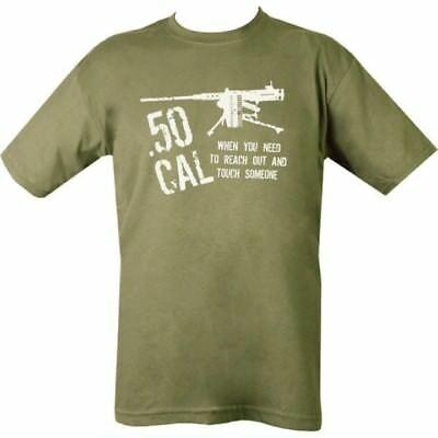Mens T-Shirt S-2Xl Green Cotton Top Army 50 Cal Sniper Reach Out Touch Someone