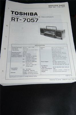 Service Manual   Toshiba  RT-7057