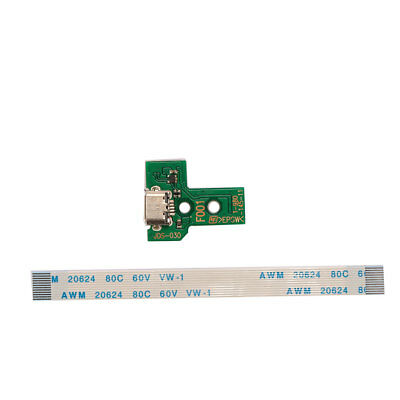 Micro USB Charging Port JDS-011 + 12Pin Flex Cable Wire For PS4 Controller