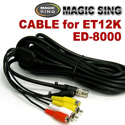 MAGIC SING Cable - 7 Pin RCA Cable for ET12K and ED-8000