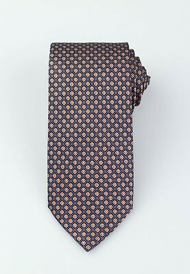 BRIONI Gray With Floral Pattern 100/% Silk Neck Tie $230 New