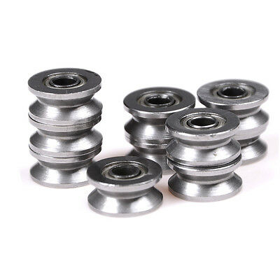 10x 624VV  V Groove Deep Groove Ball Bearing Traces Walking Guide Rail BearingCL