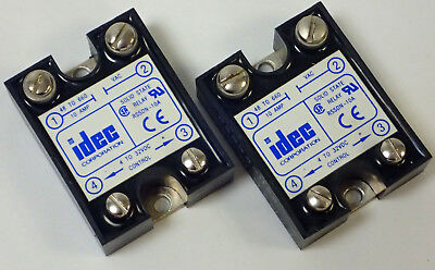 Lot Of 2, Idec Rssdn-10A Panel Mount Solid State Relay, 4-32Vdc, 48-660Vac, Used