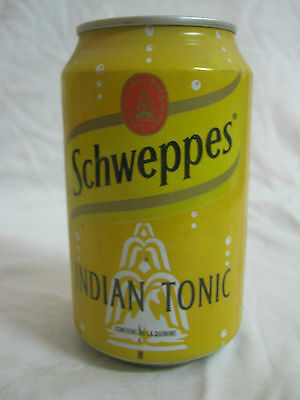 Schweppes indian tonic  : a 330 ml  empty can, france 1998