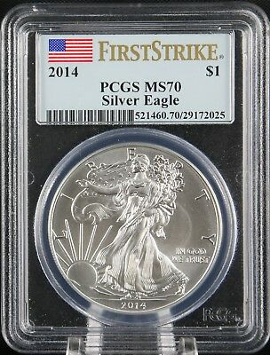 2014 Silver Eagle PCGS MS 70 First Strike
