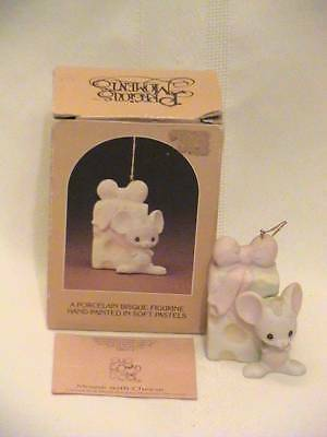 Precious Moments ~ Mouse with Cheese ornament ~ 1982 ~ free shipping ~ E-2381