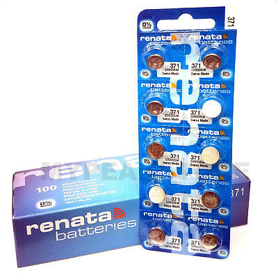 371 RENATA SR920SW D370 Watch Battery Free Shipping Authorized Seller (10 PACK)