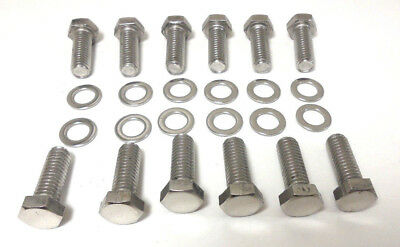 "SB Chevy Intake Manifold Bolt Kit 3//8/""-16 x 1/"" Stainless Hex SBC 283 327 350 383"
