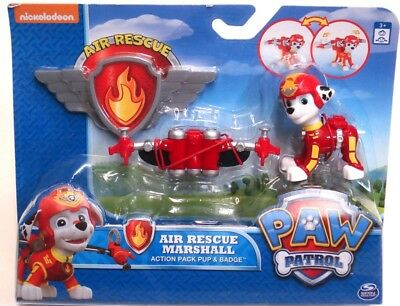 Paw Patrol Air Rescue Marshall Action Pack Pup & Badge